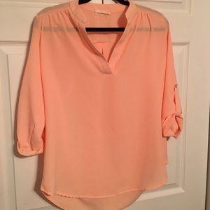 Entro peach colored tunic top